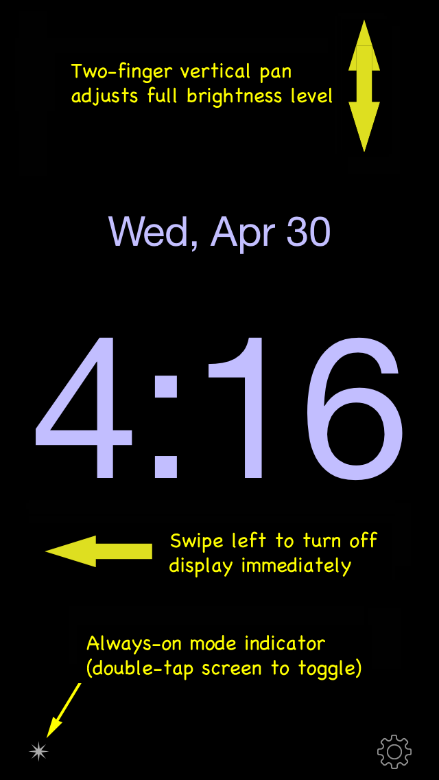 Disappearing Bedside Clock Utilities App For iPhone - https